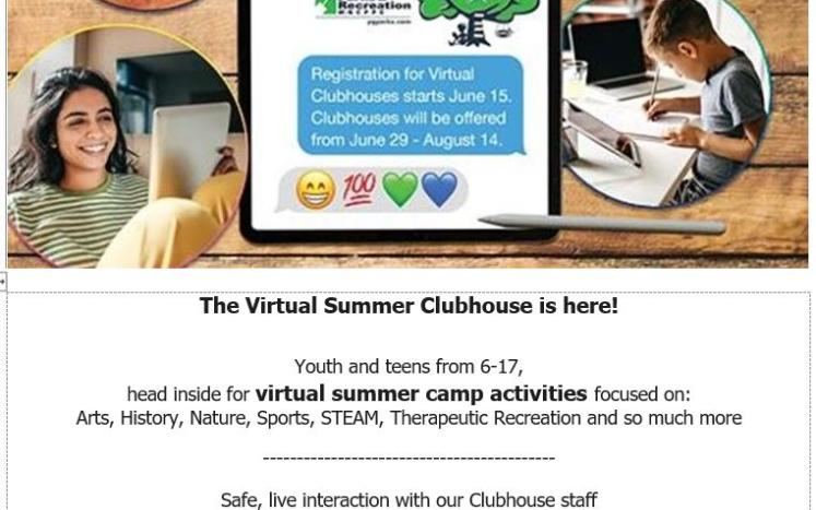 Summer clubhouse brochure image